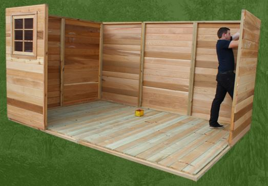 Quality Cedar Timber Shed
